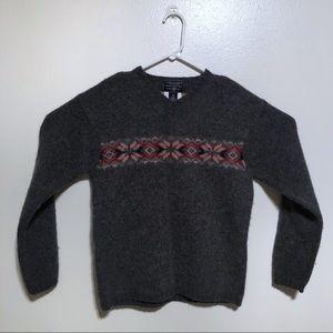 Men's Shetland Wool American Eagle Sweater
